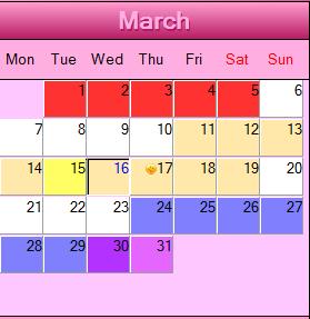 Календарь определения дней безопасного секса