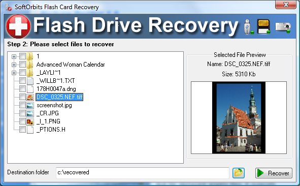 SoftOrbits Flash Drive Recovery Screenshot