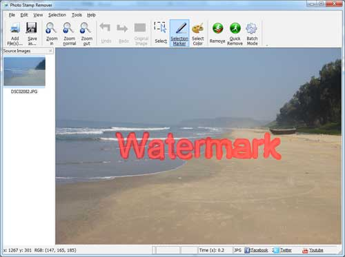 how to remove watermark - step 2