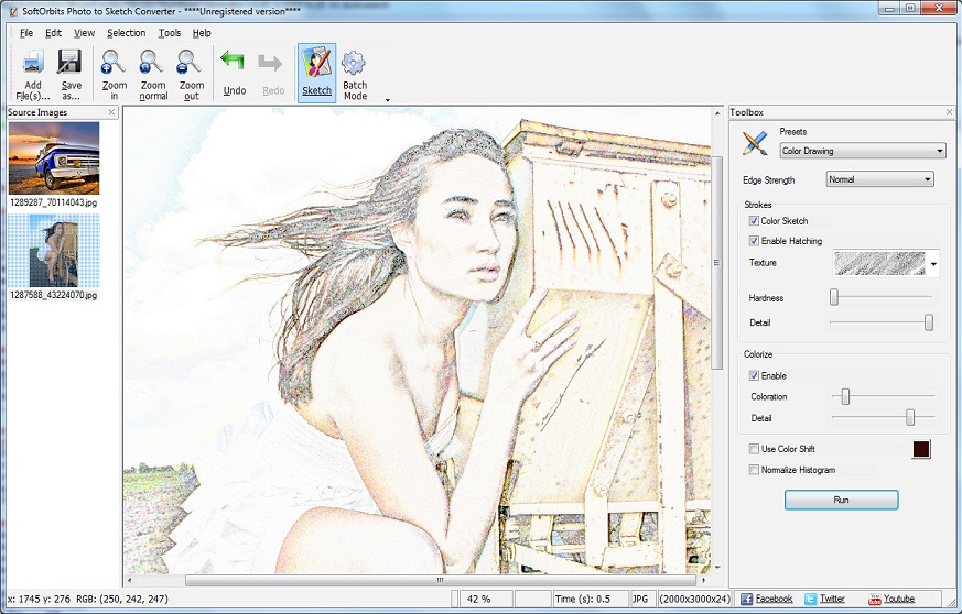 how to convert photo to pencil sketch