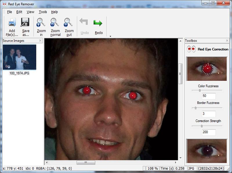 скачать бесплатно программу для удаления красного глаза