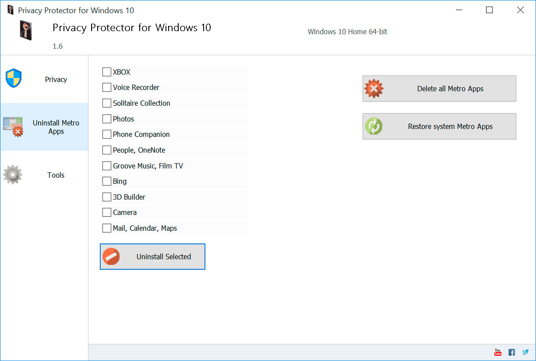 卸载Windows Metro应用