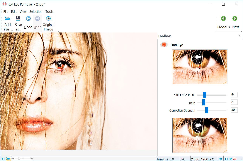 Red Eye Removal 屏幕截图