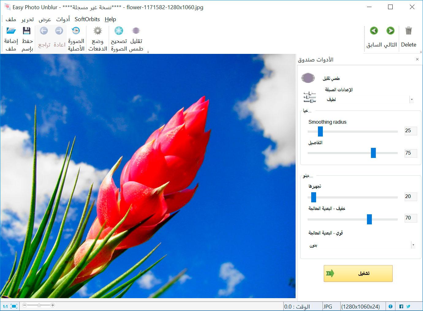 Easy Photo Unblur صور من البرنامج