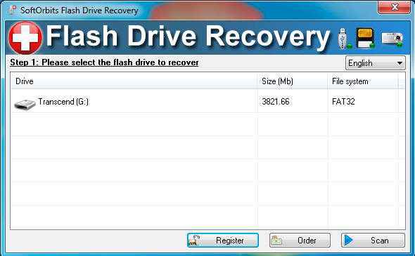 SoftOrbits Flash Drive Recovery Снимки экрана