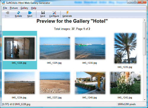 Html Web Gallery Creator Screenshots