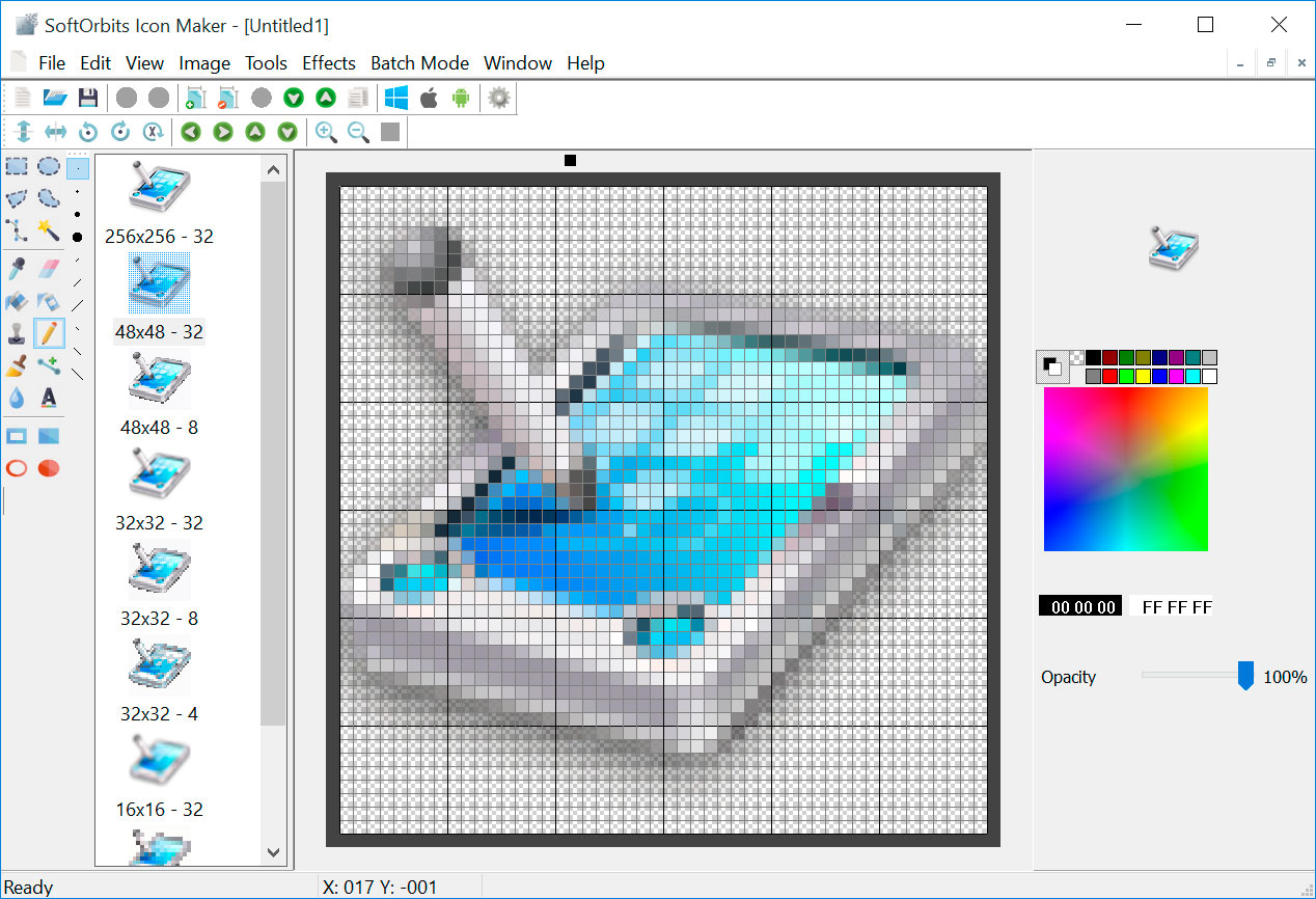 Transparent icon maker - SoftOrbits