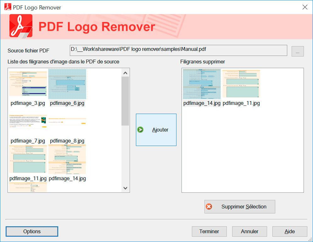 SoftOrbits PDF Logo Remover Captures d'écran