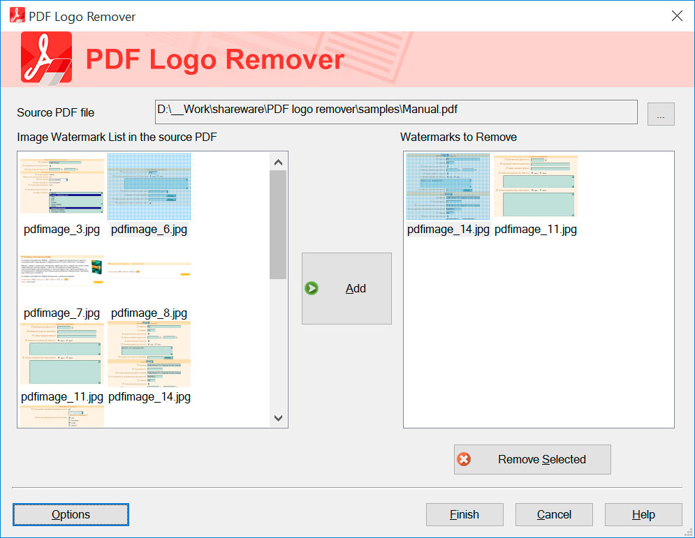 SoftOrbits PDF Logo Remover Screenshots