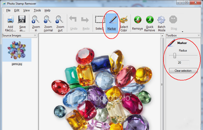 how to remove watermark from image - step 2