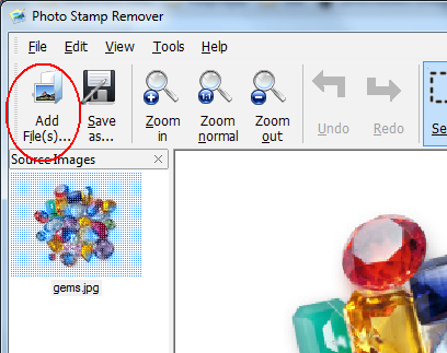 how to remove watermarks - step 1